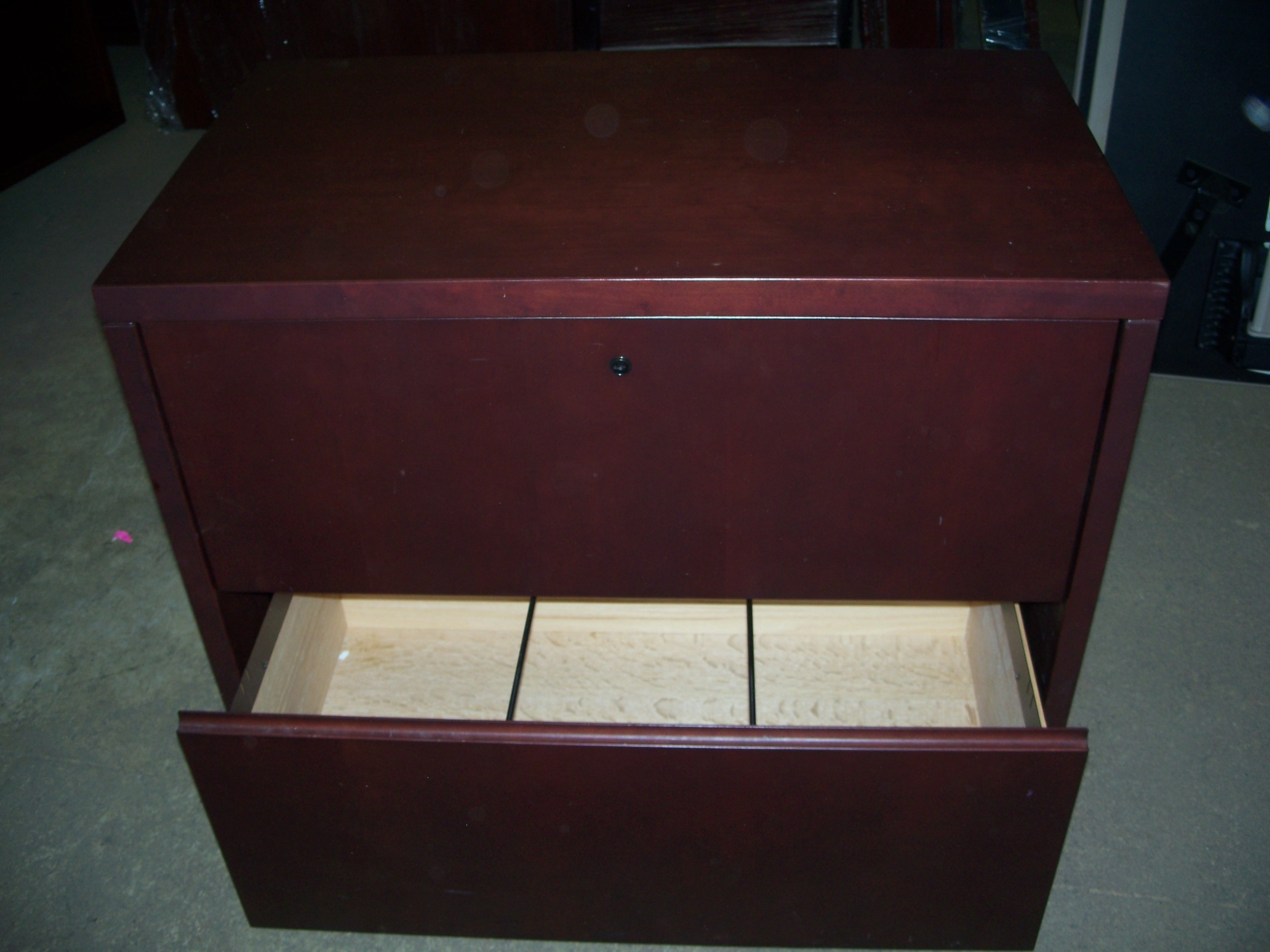 Mahogany 2 Drawer Lateral File Cabinets